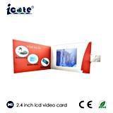Горячая выдвиженческая рекламируя поздравительная открытка LCD видео-
