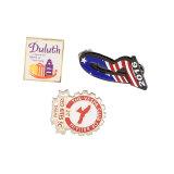 Хорошее качество рекламных подарков Custom раунда безопасности металлического штифта логотип, Тин значок, значок кнопки