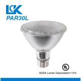8W 800lm PAR30L nova espiral filamento da lâmpada da luz de LED