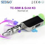 미국 2017년 Seego에 있는 대중적인 E Cig는 Tc 50W & K3 이중 코일 기화기 장비를 G 명중했다