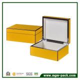 Moda Popular amarillo de madera de embalaje Caja de pluma de regalo