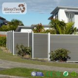 Kundenspezifischer zusammengesetzter hölzerner Zaun des Entwurfs-Grün-im Freien Garten-WPC