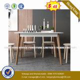 4 sièges 2 tiroirs Bureau de poste de travail du personnel de cluster de partition (HX-8NR0708)
