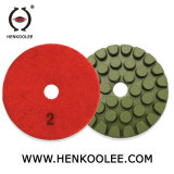 4 pulgadas del piso de forma de concha de tortuga pads de pulido Herramientas Diamantadas para Mármol y Granito/cemento