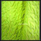Stof Één van de Pongézijde van de polyester ZijKalender met Ultrasone het Watteren /Polyester Stof voor Hometextile