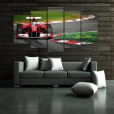 HD imprimió la lona del cuadro del cartel de la impresión de la decoración del taller de impresión de la lona de arte de la pared de la pintura del grupo del coche F1