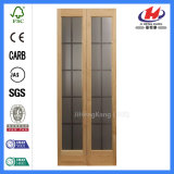 ガラスが付いている二重緩和された内部のBifoldドア