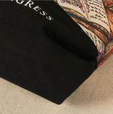 Sac d'emballage estampé polychrome de toile avec la poche intérieure de tirette