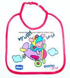 中国の工場農産物の漫画プリント白い綿のテリーの赤ん坊のエプロン胸当て