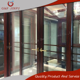 Vidrio templado del Interior de aluminio de doble puerta deslizante con diferentes colores