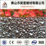 Feuille en plastique de PC de feuille gravée en relief par polycarbonate chaud de vente pour la toiture