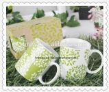 Tazze di tè di ceramica all'ingrosso poco costose calde di vendita 11oz con il contenitore di regalo