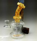 Tubo di fumo di vetro dell'acqua del riciclatore di nuovo colore