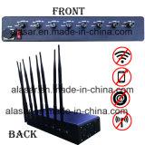 8CH сжимая Jammer сигнала силы регулируемый мощный Cellphone/GPS/4G/WiFi, Jammer сигнала мобильного телефона/блокатор сигнала
