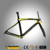 Faser-Straßen-Fahrrad-Rahmen des heißer Verkaufs-China-kundenspezifischer Kohlenstoff-700c