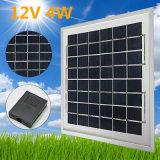 carregador policristalino das células solares dos painéis solares DIY de 12V 4W para cobrar de bateria 12V