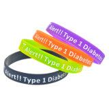 Bracelet fait sur commande de silicium de logo de Deboss pour le cadeau de promotion