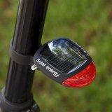Luz traseira recarregável psta solar da cauda da bicicleta