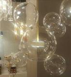 바 펀던트 램프를 위한 LED 유리와 철 공 샹들리에