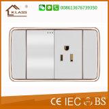 118 modelo modificar el interruptor superventas de la pared para requisitos particulares del pulsador 2gang