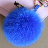 柔らかい球袋の魅力の実質のキツネの毛皮POM POMの球