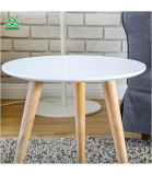 To Homury Coffee Table Round set OF 3 end simmer Table Wood Nesting Corner Table sofa Table Tea Table, White