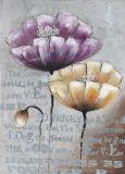 Handgemachtes Blumensegeltuch-Ölgemälde für Haus