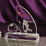 Custom персонализированные 3D-гравировка Crystal баскетбол трофей, кристально чистый футбол награды