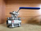 Bw-Edelstahl-Kolben-Schweißens-manuelles 3PCS Kugelventil