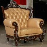 Mejor calidad de muebles de oficina Nuevo sofá de cuero auténtico clásico (169)