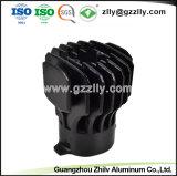 Dissipatore di calore di alluminio dell'espulsione di figura del girasole del materiale da costruzione