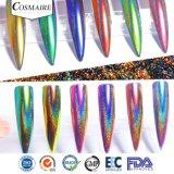 Efecto de los espejos holográfico de Peacock Chameleon Nail Art polvo de pigmento