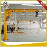 La maquinaria de construcción de la grúa pluma