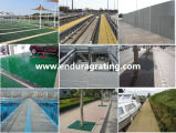 Отлитая в форму FRP/GRP дорожка решетки/стеклоткани Grating/FRP/пластичные Grating/Анти--UV/коррозионные устойчивости