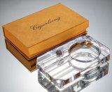 De Woonkamer van het Asbakje van het Glas van het Kristal van de Sigaar van Solanlong met de Grote Gepersonaliseerde Verpakking die van de Doos van de Gift wordt verfraaid