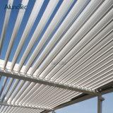 Pergola de alumínio personalizado do tamanho com lâminas e cortinas da grelha