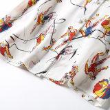A camisa impressa atmosférica elegante nova com cor da forma