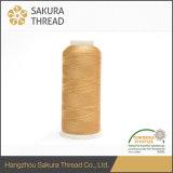 cuerda de rosca del poliester de la clase de 75D/2 Oeko-Tex100 1 para tejer a mano
