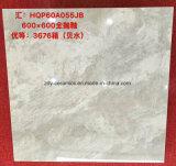 Azulejo esmaltado mirada de mármol blanca de la porcelana del material de construcción de Foshan