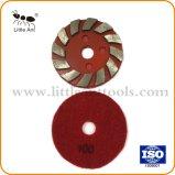 콘크리트를 위한 빨간 벨크로 뒤 금속 유대 다이아몬드 편평한 가는 격판덮개