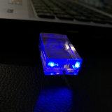 Customerized Firmenzeichen transparentes USB-Blitz-Laufwerk 8GB 16GB 32GB 64GB USB-Speicher-Kristalllaufwerk mit LED-Licht