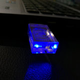 Привод памяти USB привода 8GB 16GB 32GB 64GB вспышки USB логоса Customerized кристаллический прозрачный с светом СИД