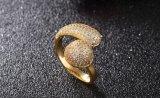 Diseño de Moda Cubic Zirconia anillos infinita de cristal para las mujeres de joyas de boda