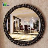 Ronde d'argent européen miroirs en verre décoratif pour la maison