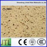 Lastre dorate vendibili della pietra del quarzo della sabbia