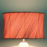 La cerámica y tejido fluorescente la lámpara de escritorio de Sombra Interior Lámpara de mesa