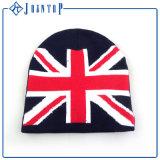 卸し売り冬のニットの編まれたラベルが付いているアクリルの帽子の帽子