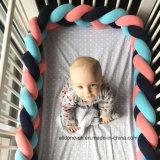 Knoten-Kissen, Knoten-Kissen, dekoratives Kissen, Kissen-Kissen, Krippe-Bettwäsche, Baby-Bettwäsche, Baby-Blätter, Baby-Dusche-Geschenk, umsponnener Krippe-Anschlagpuffer