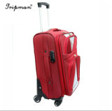 Multi Pockets Spinner Wheels Luggage Software 20/22/24/28 Red&Brown Inches