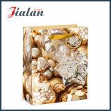 Мешок несущей покупкы упаковки подарка рождества промотирования напечатанный способом бумажный